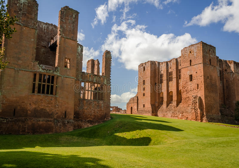 Castelo de Kenilworth em Inglaterra foto de stock