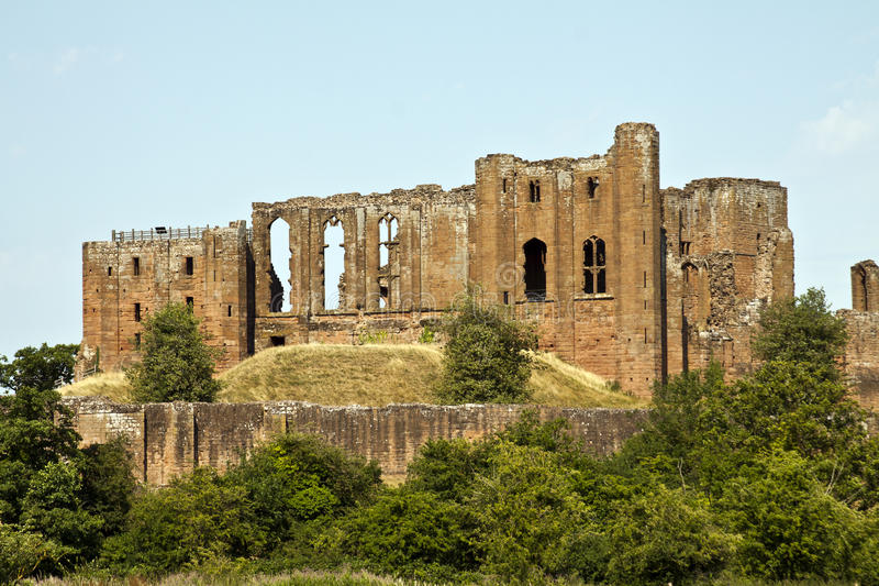 Castelo de Kenilworth, Kenilworth, Warwickshire, Inglaterra fotografia de stock royalty free