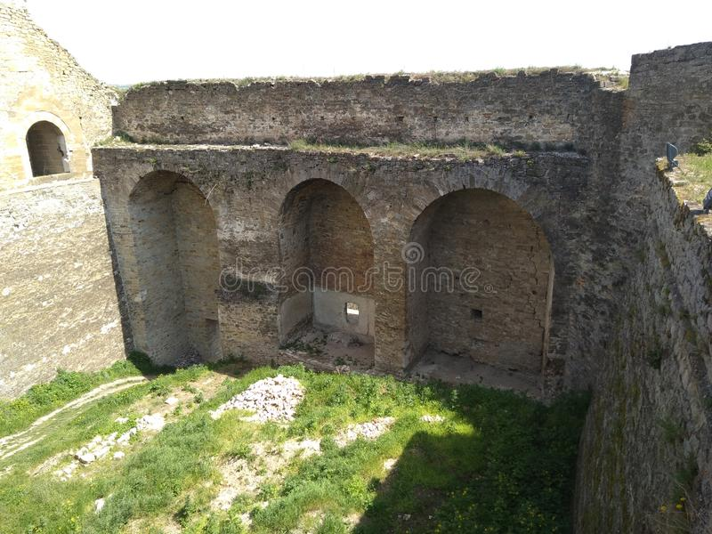 Castelo de Khotyn foto de stock