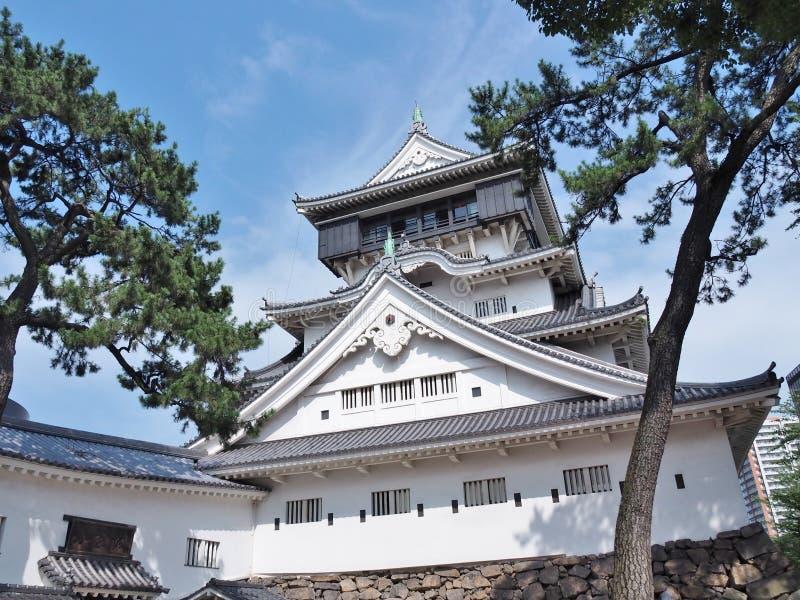 Castelo de Kokura em Kitakyushu, Fukuoka, Japão imagens de stock