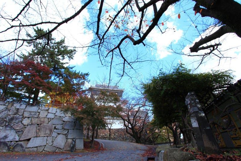 Castelo de Kokura-jo, castelo japonês no parque de Katsuyama em Kitakyush fotos de stock royalty free