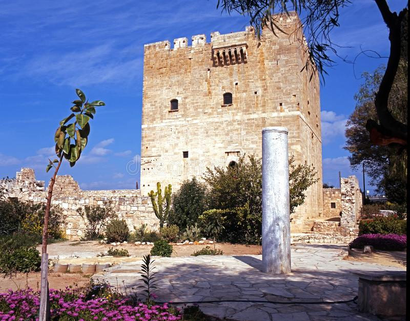 Castelo de Kolossi fotografia de stock royalty free