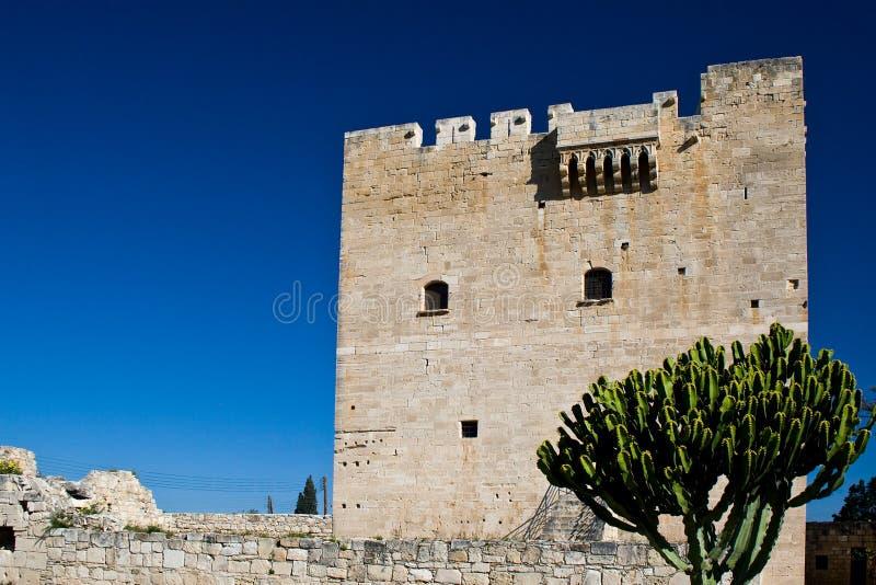 Castelo de Kolossi, Chipre fotografia de stock royalty free