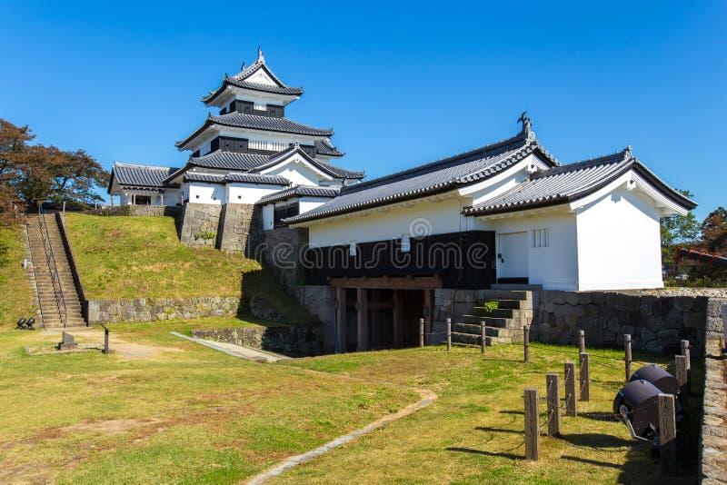Castelo de Komine em Fukushima em Japão imagem de stock royalty free