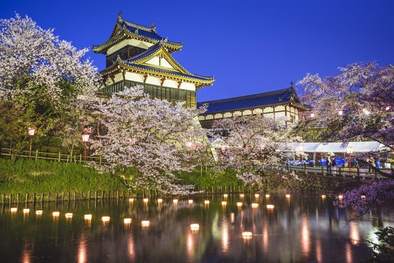 Castelo de Koriyama imagens de stock royalty free