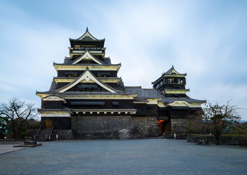 Castelo de Kumamoto em Japão fotografia de stock
