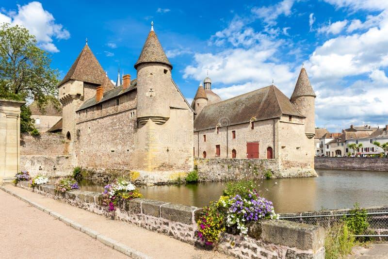 Castelo de la Clayette, Borgonha, France fotografia de stock royalty free