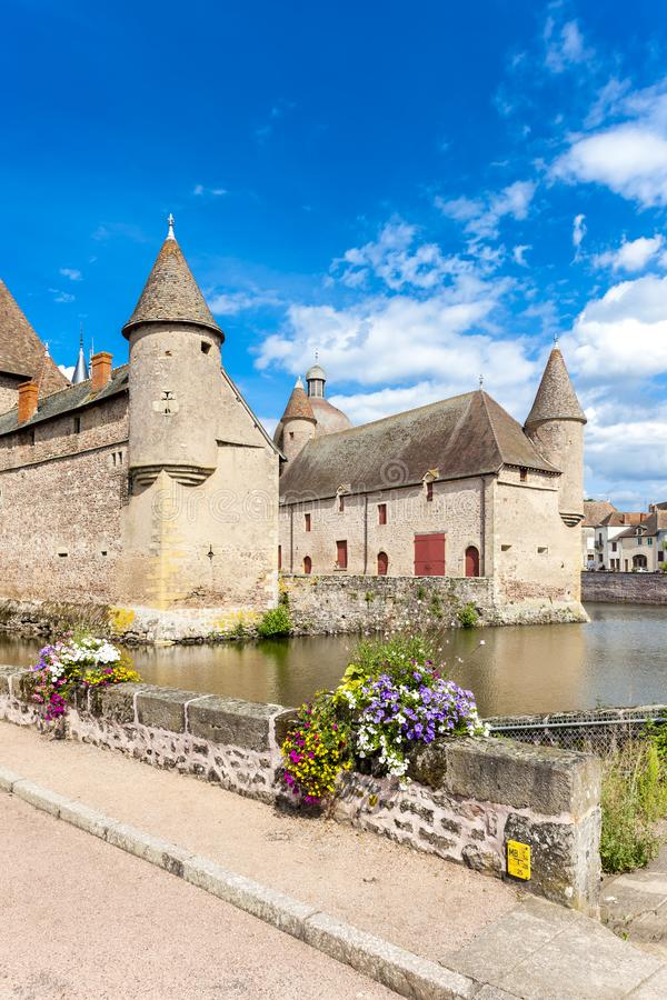 Castelo de la Clayette, Borgonha, France imagem de stock royalty free