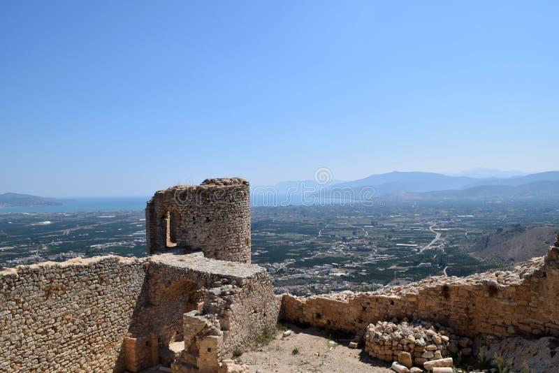 Castelo de Larissa, Grécia imagem de stock royalty free