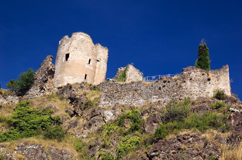 Castelo de Lastours 3 fotos de stock royalty free