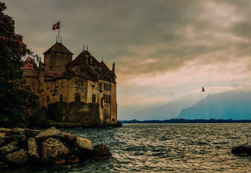Castelo de Leman fotos de stock royalty free