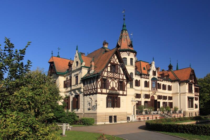 Castelo de Lesna imagem de stock