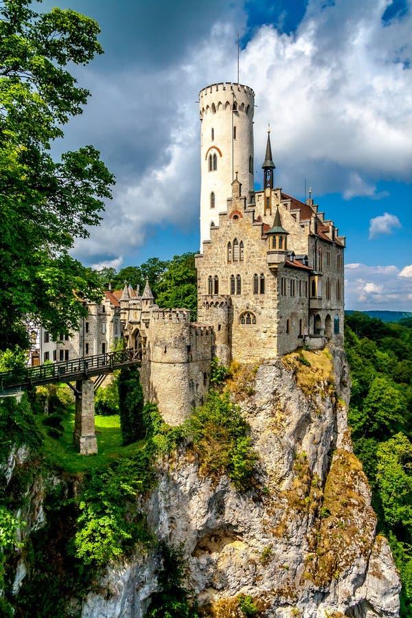 Castelo de Lichtenstein fotografia de stock royalty free
