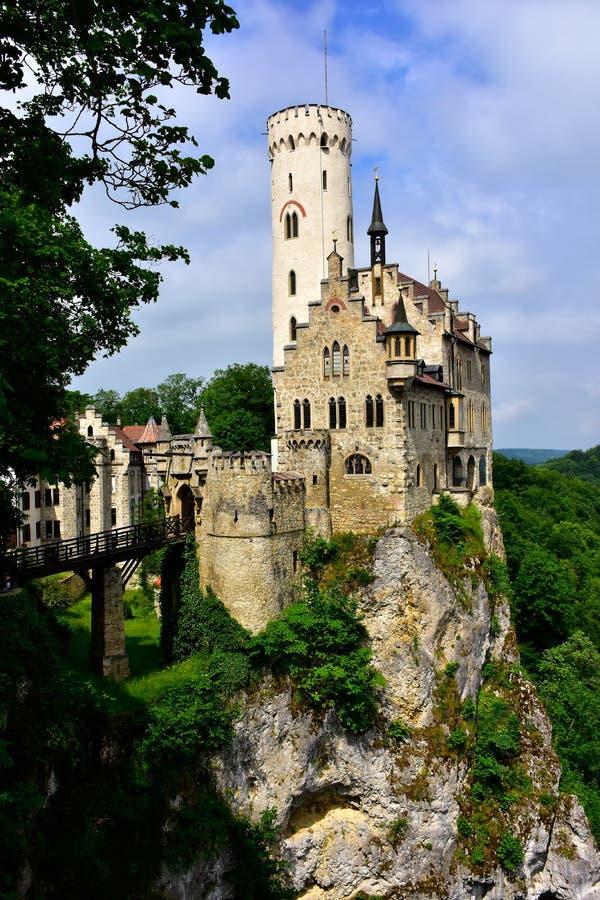 Castelo de Lichtenstein fotos de stock