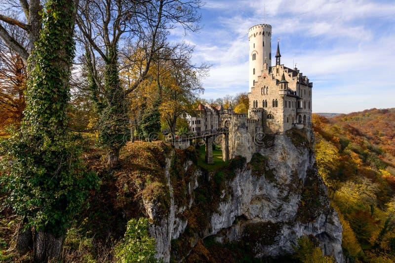 Castelo de Lichtenstein, Alemanha imagem de stock