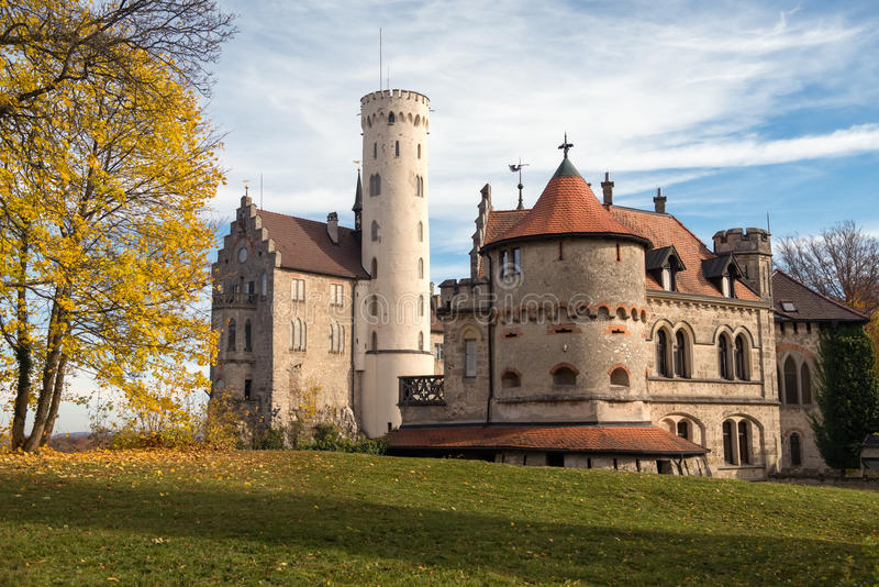 Castelo de Lichtenstein, Alemanha imagens de stock