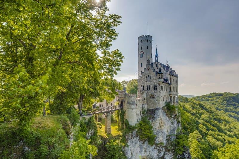 Castelo de Lichtenstein em Baden-Wurttemberg, Alemanha imagem de stock royalty free