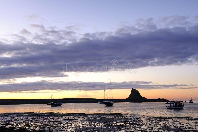 Castelo de Lindisfarne (console santamente) imagens de stock royalty free