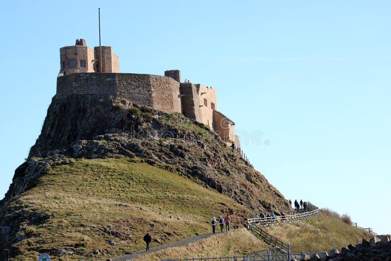 Castelo de Lindisfarne, ilha santamente Northumberland Reino Unido fotografia de stock royalty free
