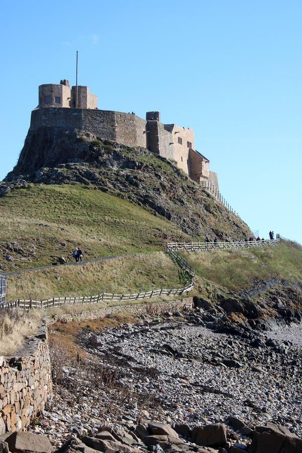 Castelo de Lindisfarne, ilha santamente Northumberland Reino Unido fotografia de stock