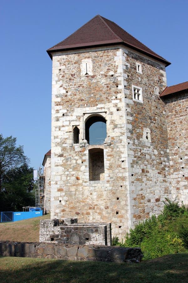 Castelo de Ljubljana, Slovenia foto de stock royalty free