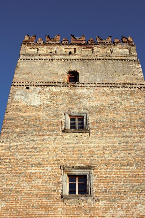 Castelo de Lubert em Lutsk imagens de stock