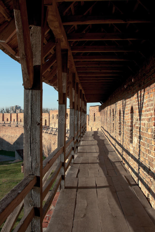 Castelo de Lubert em Lutsk fotos de stock