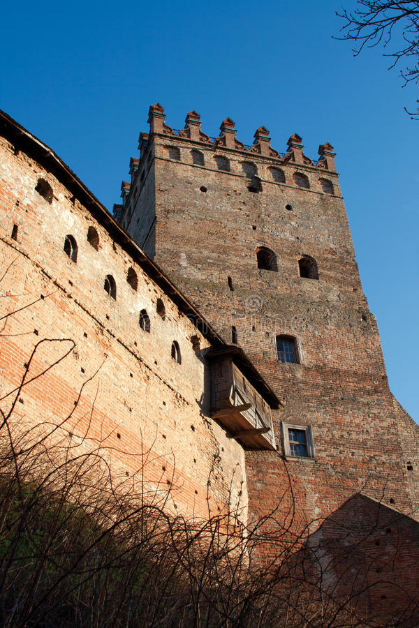 Castelo de Lubert em Lutsk foto de stock