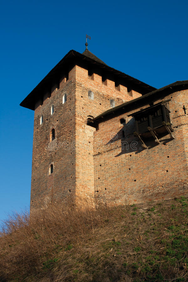 Castelo de Lubert em Lutsk fotografia de stock royalty free