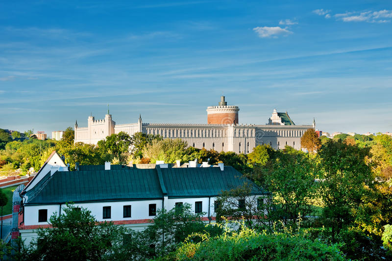 Castelo de Lublin fotos de stock royalty free