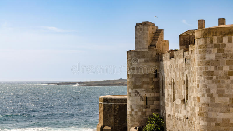 Castelo de Maniace da vista fotos de stock royalty free