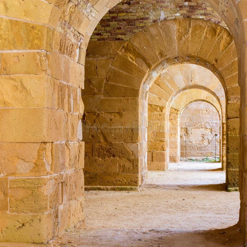 Castelo de Maniace da vista foto de stock royalty free