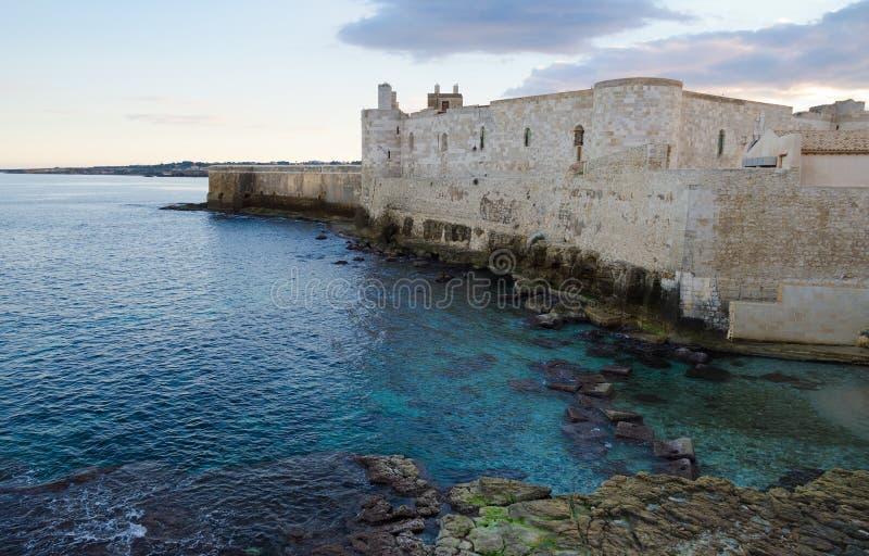 Castelo de Maniace, Ortigia foto de stock royalty free