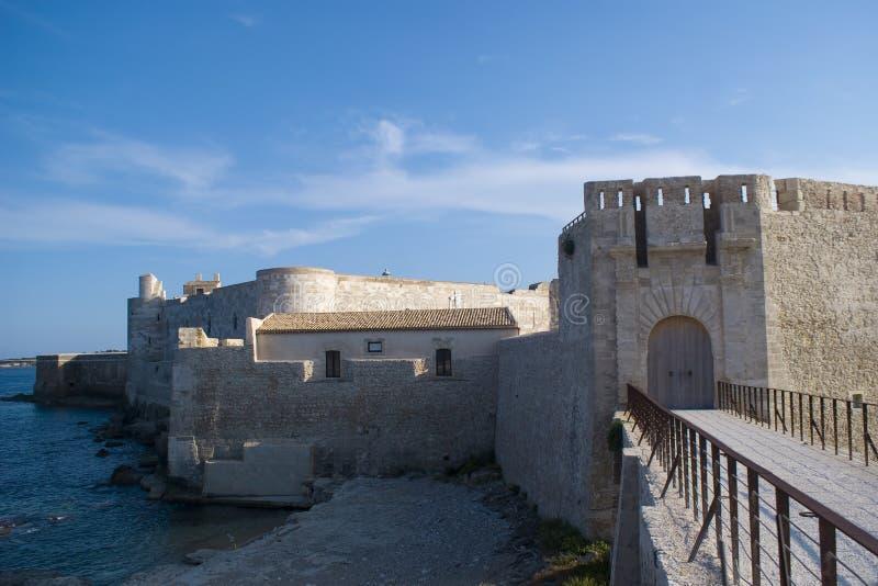 Castelo de Maniace, Siracusa imagens de stock royalty free