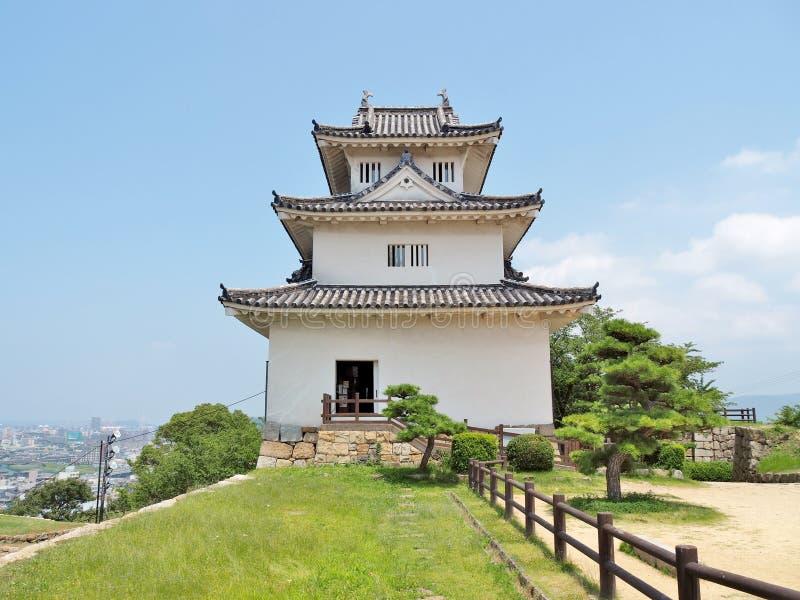 Castelo de Marugame em Marugame, Kagawa Prefecture, Japão imagem de stock royalty free