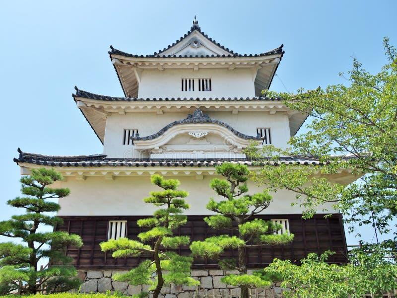 Castelo de Marugame em Marugame, Kagawa Prefecture, Japão imagens de stock