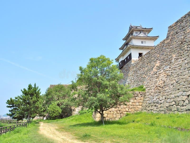 Castelo de Marugame em Marugame, Kagawa Prefecture, Japão fotos de stock royalty free
