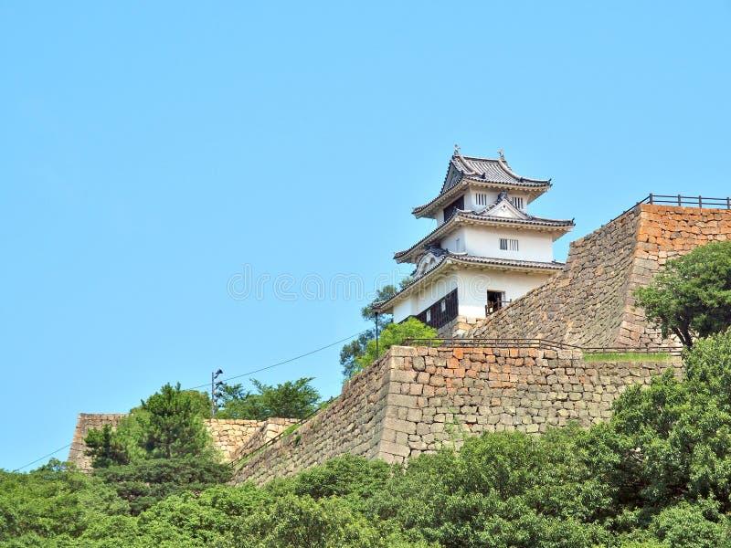 Castelo de Marugame em Marugame, Kagawa Prefecture, Japão fotografia de stock