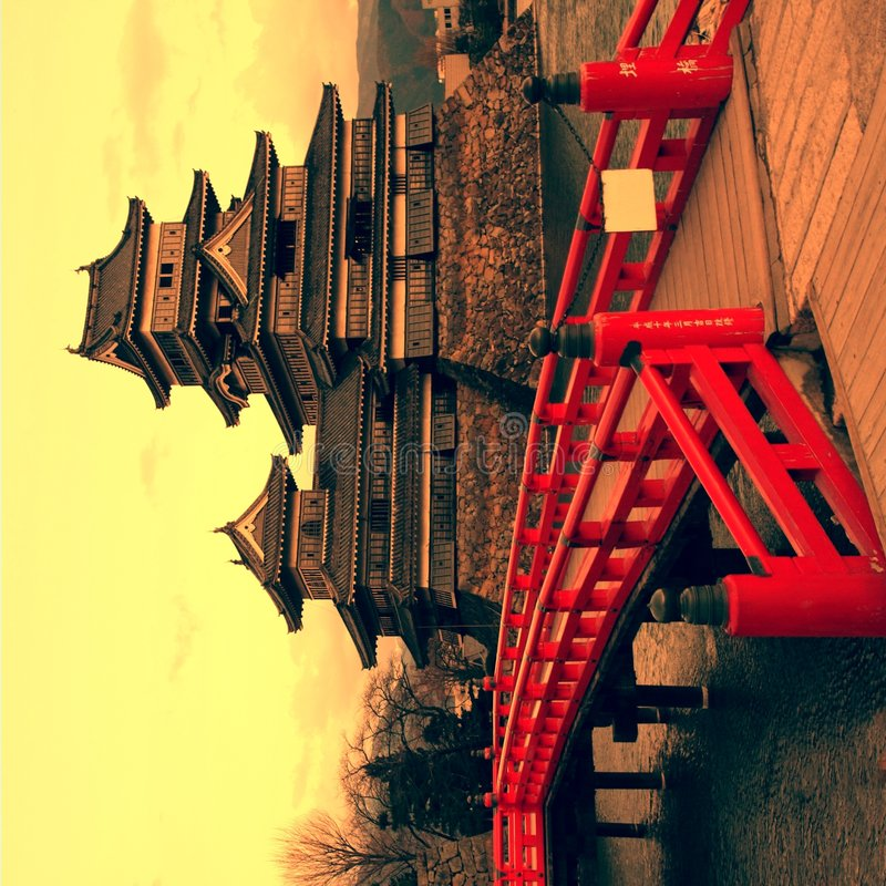 Castelo de Matsumoto, Japão imagem de stock