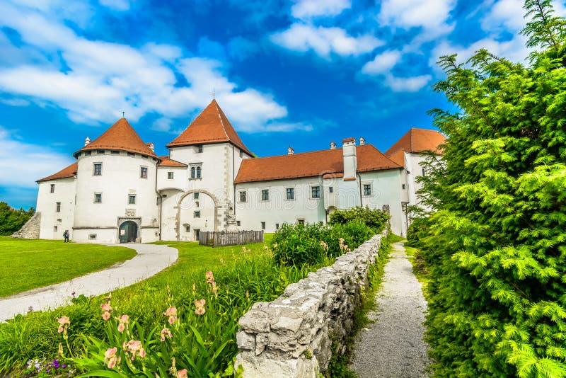 Castelo de Medieal em Varazdin, Croácia imagem de stock
