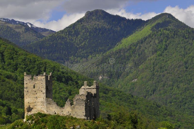 Castelo de Miglos foto de stock royalty free