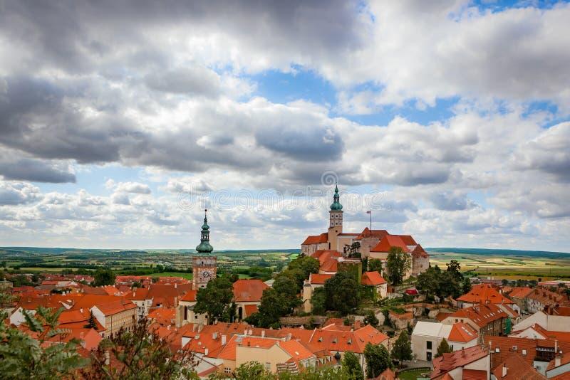 Castelo de Mikulov em Moravia do sul, checo foto de stock royalty free