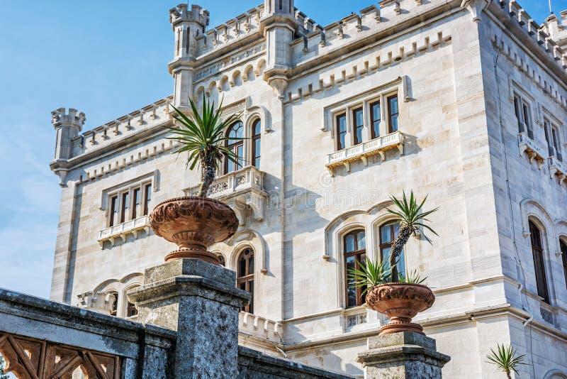 Castelo de Miramare perto de Trieste, Italy foto de stock royalty free