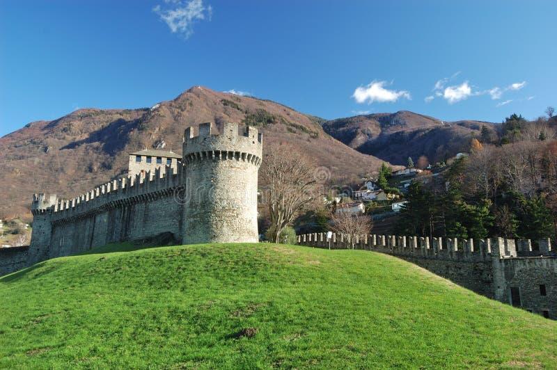 Castelo de Montebello, Bellinzona fotos de stock royalty free