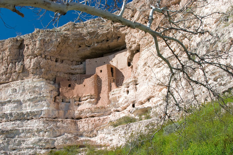 Castelo de Montezuma perto de Sedona, AZ imagens de stock royalty free