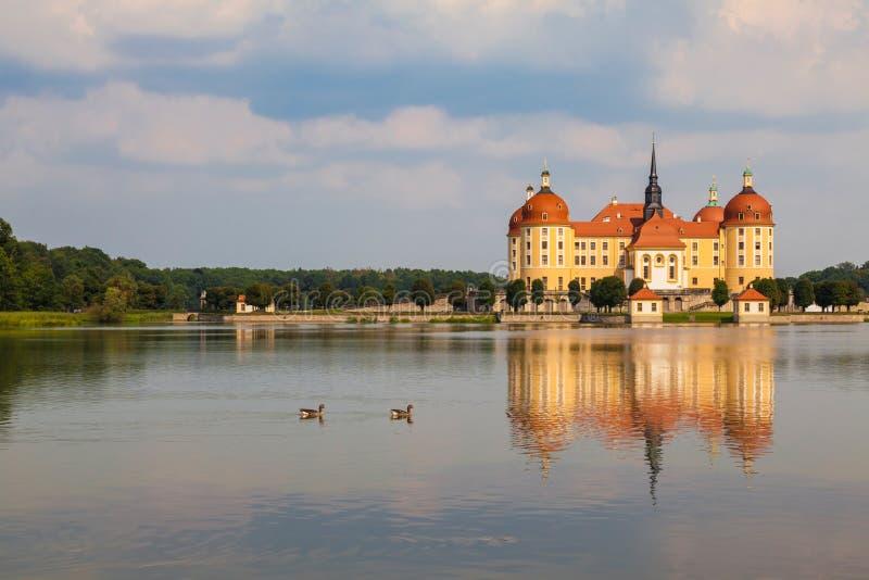 Castelo de Moritzburg perto de Dresden, Alemanha imagem de stock royalty free