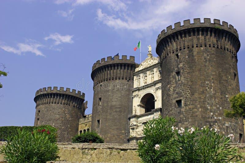 Castelo de Nápoles. foto de stock royalty free