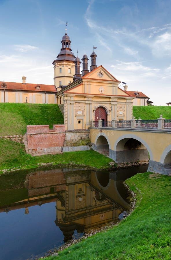 Castelo de Nesvizhsky, região de Minsk, Bielorrússia fotos de stock royalty free