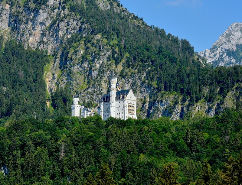 Castelo de Neuschwanstein - Baviera - Alemanha imagem de stock royalty free