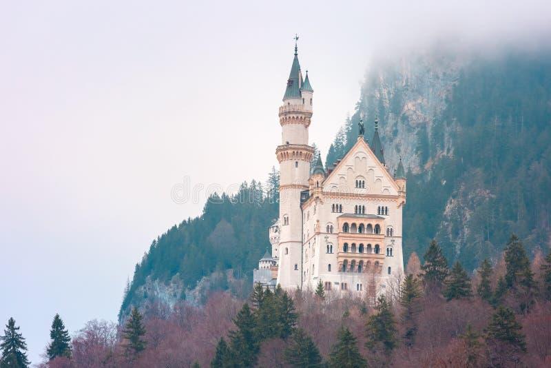 Castelo de Neuschwanstein do conto de fadas, Baviera, Alemanha imagem de stock
